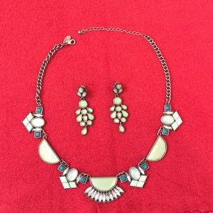 Lia Sophia statement necklace and earrings set!